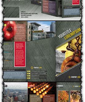 Indesign A4 tri-fold brochure