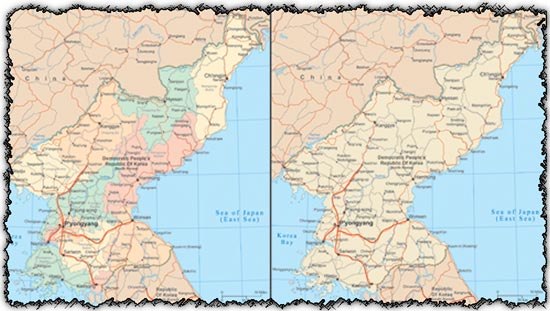 North Korea vector maps