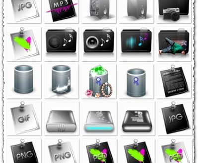 Png media colored icons