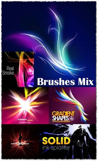 Ink splatters and gradient photoshop brushes