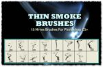 Thin Smoke Photoshop Brushes