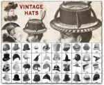 Photoshop vintage hats brushes