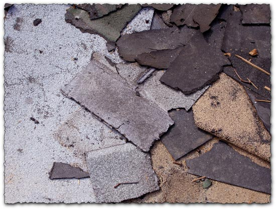 Abandoned trash asphalt texture