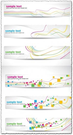 Abstract banners templates