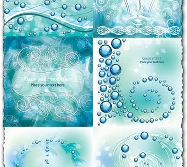 Abstract floral background vectors