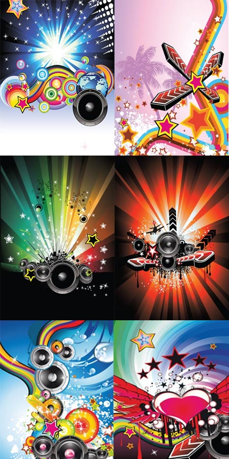 Music posters abstract vectors