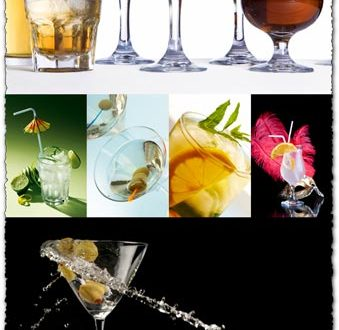 Alcoholic cocktails images collection