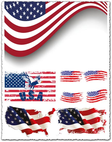 American flag vectors design