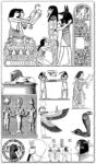 Ancient Egypt motifs cliparts