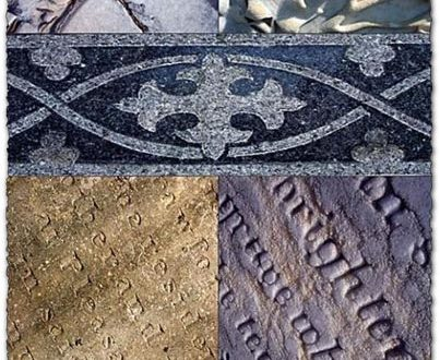 Ancient tombstones textures