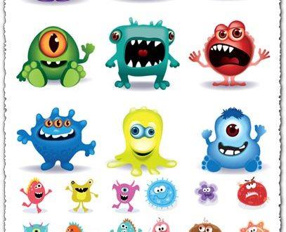 Angry monsters vector avatars