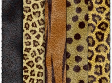 Animal fur textures collection
