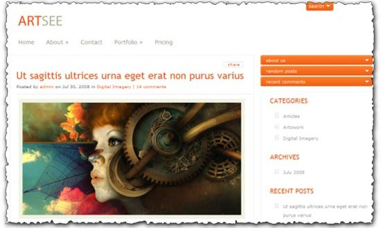Artsee Elegantthemes wordpress template
