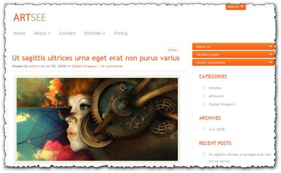 Artsee Elegantthemes wordpress template