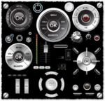 Audio navigator buttons vector