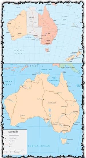 Australia map vector