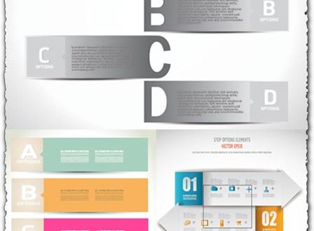 Banners with shadow effect vectors