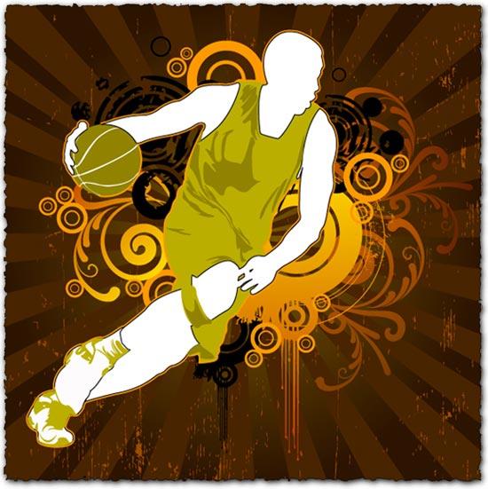 Basketball vector template design