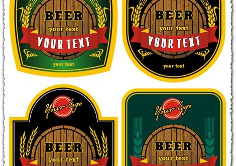 Beer logo vector labels