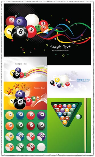 Billiard and snooker balls vector
