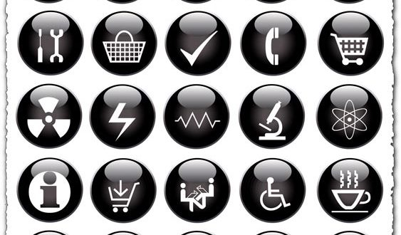 Black packaging vector icons