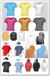 Blank clothing vector t-shirts