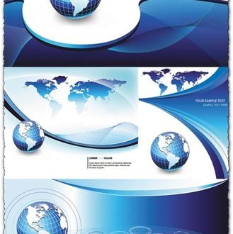 Blue business background vectors