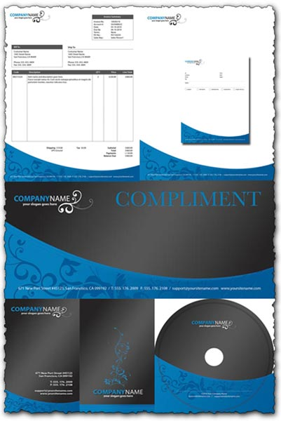 Blue Corporate Identity pack for Photoshop