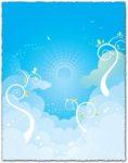 Blue sky background vector eps design