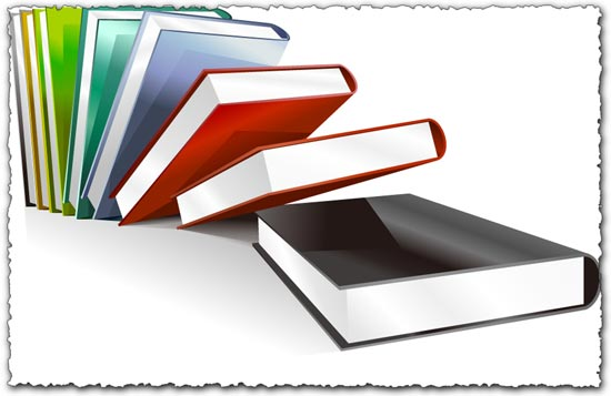 Vector book template
