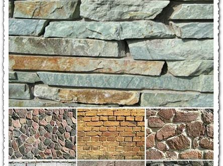 Bricks and stone background textures