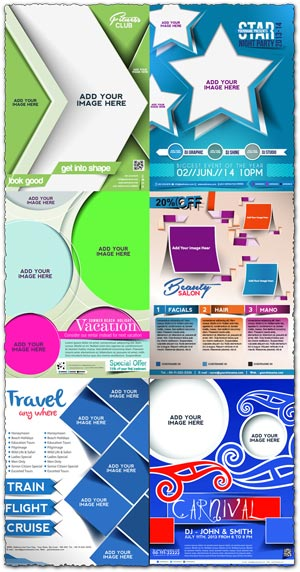 Brochure covers for events vector
