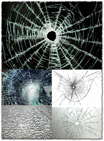 Broken glass textures effect