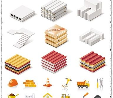 Building icons vectors