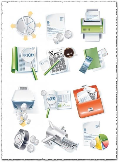 Business and medical vector icons