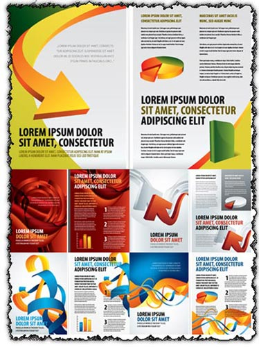 Business brochure vector templates