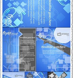 Business brochures and flyers vectors