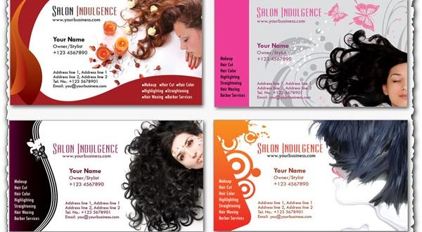 Photoshop business cards Beauty Salon