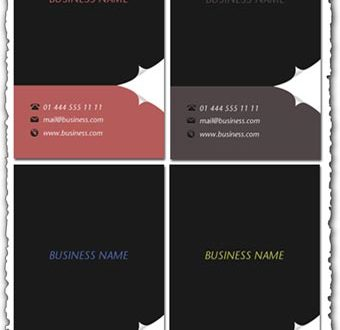 Business cards templates for Photoshop