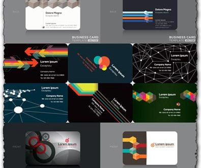 Business cards vector designs