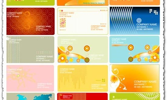 Business cards vector with abstract shapes