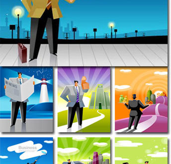 Business man clipart vectors