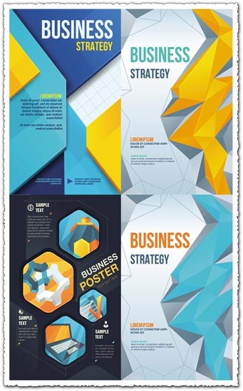 business poster cover vector design