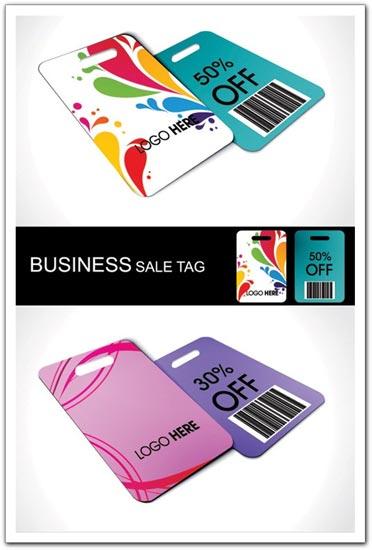 Business sale tags vectors