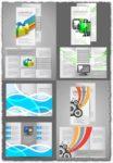 Business tri-folded brochures vectors