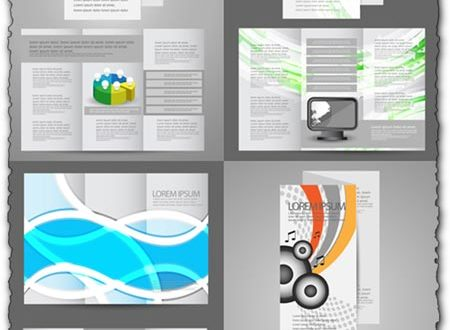 Business tri-folded brochures vectors