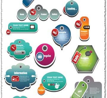 Business website tags vector