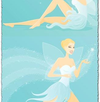 Butterfly girl vectors