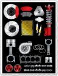 Car auto parts vectors