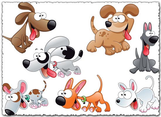 Puppy dog vector characters